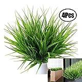 Lvcky - 4bouquets de plantes artificielles à l'apparence réaliste - Décorations pour extérieur, intérieur, bureau, mariage, jardin, tombe, etc.