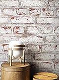NEWROOM papel pintado de piedra azul muro piedra natural moderno papel amarillo buhardilla Industrial | papel pintado ladrillo | efecto piedra