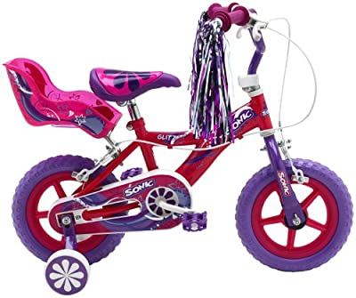 Sonic Glitz Girls' Bike - Purple/Cerise, 12 Inch
