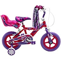 Sonic Glitz Girls' 12 inch wheel Bike, Purple/Cerise,