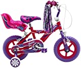 Sonic Glitz Girls' 12 inch wheel Bike, Purple/Cerise