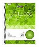 LANDRE 100050569 Collegeblock College 10er Pack A4 80 Blatt blanko mit Rand 70 g/m² gelocht Schreibblock Notizblock Briefblock Schulblock