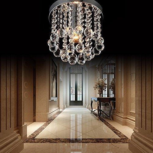 Zeefo l mpara ara a de techo de cristal luminaria mini for Lamparas de techo para recibidor