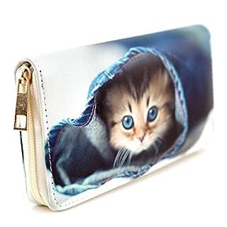 art decor Geldbörse Katze, Reißverschluss, Damen/Kinder Portemonnaie, Brieftasche