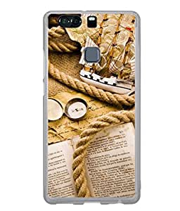 PrintVisa Designer Back Case Cover for Huawei P9 (old opened book with rope)