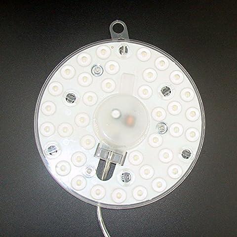 Hoobor House Led lámparas de pared con enchufe de bricolaje innovadoras para la sustitución de la lámpara LED de la fuente de luz de techo18W El Módulo de Lámpara Removable-Light placa de aluminio, blanco frío, Blanco,18Indicador WLED