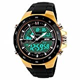 #3: Skmei Analogue-Digital Black Dial Men's Watch - 1016