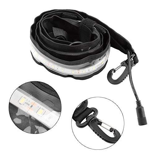 Jacksking 12V LED Streifen Licht, tragbare weiße Beleuchtung LED Auto Motorrad Camping Warnlicht Zelt Lichtleiste Streifen
