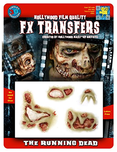 FX Transfers Zombie Series 3D FX Zombie Running Dead Make-up Kit