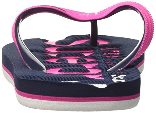 Superdry Faded Logo, Tongs Femme Multicolore (Magenta Pink/Dark Navy/Optic)