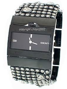 DKNY - NY3927 - Montre Mode Femme - Empierrée - Quartz analogique - Bracelet en Acier noir