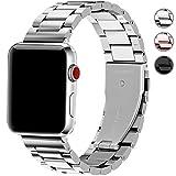 Fullmosa Apple Watch Armband 42mm und 38mm, Rostfreier Edelstahl Watch Ersatzband für iWatch/Apple Watch Serie 3 Serie 2 Serie 1, 42mm Silber