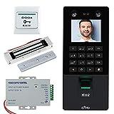 NN99 Kit de sistema de control de acceso de puerta biométrica facial USB TCP/IP + 180KG Cerradura magnética eléctrica máquina de asistencia de tiempo de 2.8 pulgadas con software