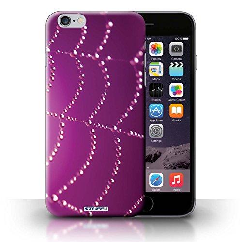 Kobalt® Imprimé Etui / Coque pour iPhone 6+/Plus 5.5 / Rose conception / Série Toile d'araignée Perles Rose