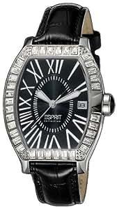 Esprit Collection - EL900372002 - Montre Femme - Quartz Analogique - Aiguilles Lumineuses - Bracelet Cuir Noir