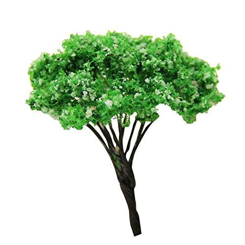 Outflower Mini Dekoration, künstliche Pflanzen, Dekoration Baum, Dekoration Ornament, Vert x 6.5cm, 7.5cm