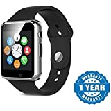 Jstbuy A1 Bluetooth Smart Watch With Camera And Sim Card Support Compatible With Apple Iphone 6 Plus New Arrival Best Selling Product At Lowest Price With Apps Touch Screen, Multi Language Support All Android Phones And Apple Ios Smartphones And Tablet (S
