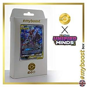 Mewtwo & Mew-GX (Mewtwo y Mew-GX) SM191 Entrenadore Full Art - #myboost X Sun & Moon 11 Unified Minds - Box de 10 cartas Pokémon Inglesas
