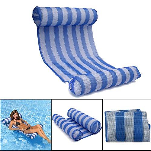 OUTERDO Wasserhängematte Aufblasbare Luftmatratze Pool Lounge für Wasserspaß