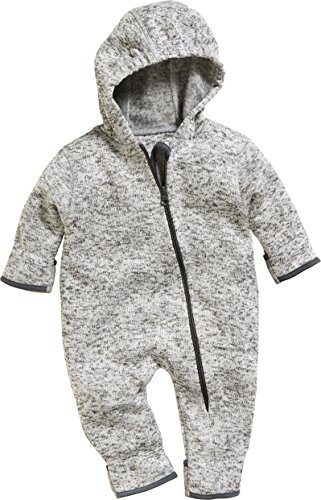 Playshoes Unisex Baby Strickfleece Overall Schneeanzug, Grau 33, 80