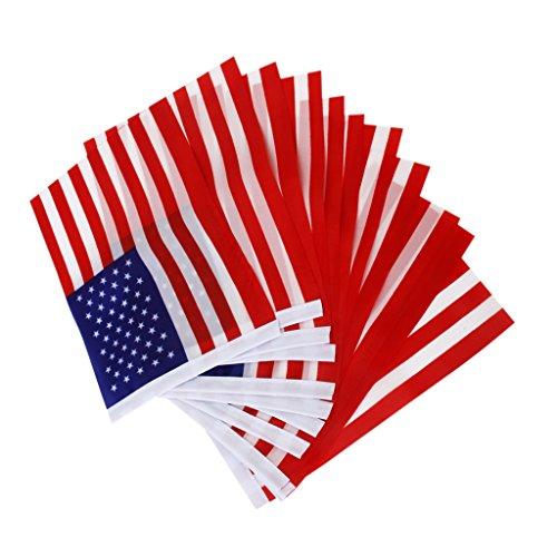 Wellenartig bewegende Flagge Mini Banner mit Kunststoff Pole 12 Stk. (Kunststoff Wimpel Banner)