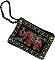 Kuber Industries™ Designer Mobile-Phone Pouch Cover with Hand Dori for Women: Rich Embroidery in Traditional I