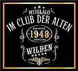 3 St. Aufkleber Original RAHMENLOS® Design: Selbstklebendes Flaschen-Etikett zum 70. Geburtstag: Mitglied im Club der alten Wilden