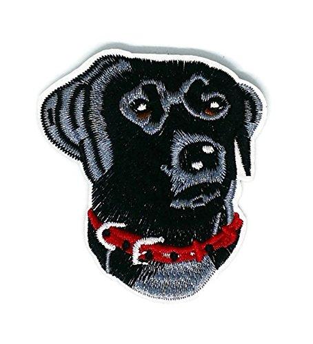 Schwarz Dog Pet Animal Cartoon bestickt Nähen Eisen auf Patch Cartoon Nähen Eisen auf bestickte Applikation Craft handgefertigt Baby Kid Girl Frauen Tücher DIY Kostüm Zubehör