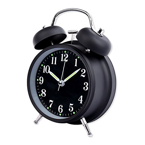Schramm® - Despertador Campana Doble Color Negro