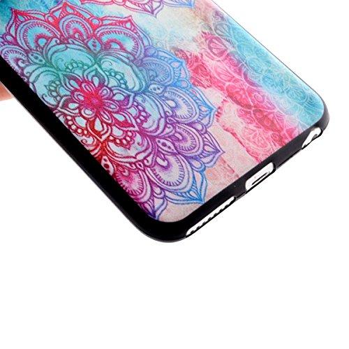 Felfy Hülle für iPhone 6S Plus,iPhone 6S Plus Case Crystal Hülle Klare Ultradünne Silikon Gel Schutzhülle Durchsichtig Muster Kristall Transparent TPU Silikon Schutz Handy Hülle Case Tasche Etui Bumpe Blumen-Totems