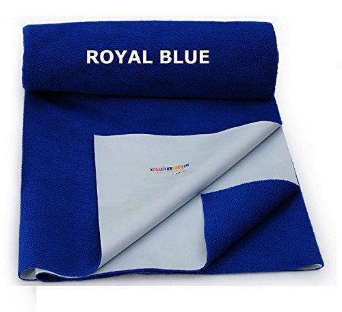 Hopping Frog Quick Dry Waterproof MAT / Mattress Protector Baby Dry Sheet - (Royal Blue) (Large)