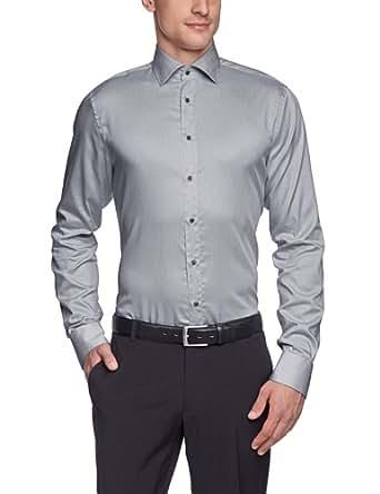 Schwarze Rose Herren Businesshemd Slim Fit 227345, Gr. 38, Grau (32 grau)