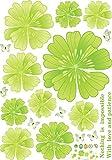 RUIPENGPENG Wall Sticker Aufkleber wasserdicht Abnehmbare für Wohnzimmer Kinder Baby Nursery das Kopfende des Bettes warmen und romantischen Wandschrank Glas Kühlschrank Klimaanlage ist ein 3-D-Simulation der 3-dimensionalen Blumen, nicht Ecstasy grün, Groß