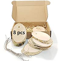 Wood Slices Disc for Crafts Log Slice Wooden Discs Birch Shapes Decorations DIY (Birch Egg)