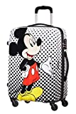American Tourister Disney Legends - Spinner Medium Alfatwist Bagaglio a mano, 65 cm, 62.5 liters, Multicolore (Mickey Mouse Polka Dot)