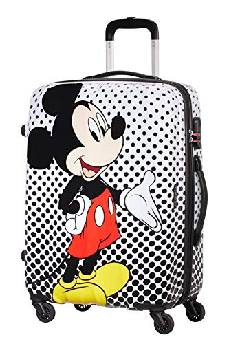 American Tourister Disney Legends Spinner M Valigia per bambini, 65 cm, 62.5 L, Multicolore (Mickey Mouse Polka Dot)