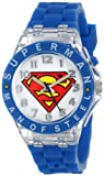 Best DC Comics DC Comics Superman Kids Watches - Superman Kids' SUP9049 Watch with Blue Rubber B Review