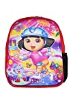 Tripura School Bag for Boys and Girls, Kids School bag, Red color with printed Dora characters Backpack