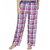 Forever Dreaming, pantaloni del pigiama da donna in tessuto jacquard, con elastico in vita Pink & Royal Small
