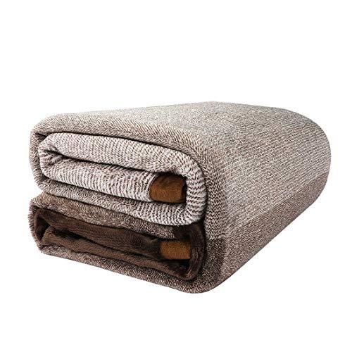 Shop Bedding Soft-Fleece-Decke Kuscheldecke für Bett oder Couch - Gradient Flanell gestreifte Decke für Schlafzimmer und Wohnzimmer Braun, Dekorativ Full/Queen-Decke von Gavotte Startseite (Queen-size-braun Flanell-bettwäsche)