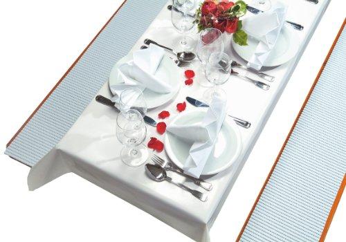 Friedola 78899 Party Set 3 teilig, 2x Bankauflage 23 x 220 cm, 1x Tischdecke 250 x 100 cm, weiß