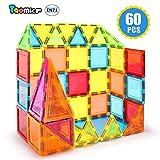 Taomics 60PCS Magnetische Bausteine, Starke 3D klare Fliesen Kinder pädagogisches Stapeln Spielzeug für Phantasie Inspirativ räumliche Gehirnentwicklung, Magnet Konstruktion Blocks Spielbrett Set