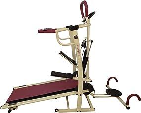 BODY MAXX Benson 4 In 1 Foldable Manual Treadmill DLX Model