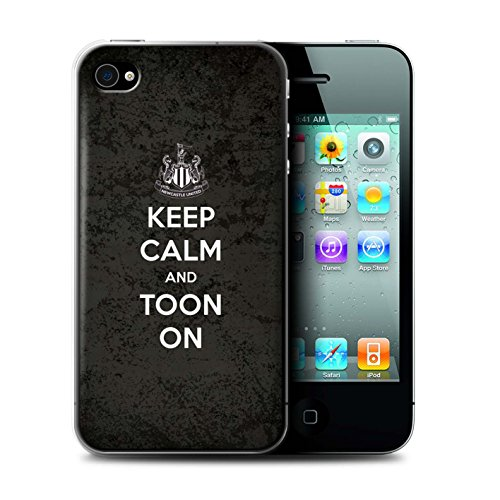 Offiziell Newcastle United FC Hülle / Case für Apple iPhone 4/4S / Pack 7pcs Muster / NUFC Keep Calm Kollektion Toon On