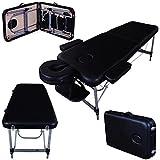 Massage Imperial® Camilla/ Mesa de Masaje Portatil y Professional Ultraligera Knightsbridge en Aluminio 10Kg con 3 secciones, en Color Negro Doblado de Espuma de 5cm/2 de Alta Calidad