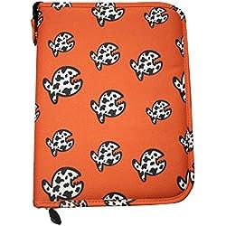 iQ-Company Allover Fish LOGBOOK Siren Journal, Orange, L