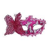 SCLMJ Mode Ball Schmetterling Maske Für Frauen Maskerade Dancing Party Schöne Halbe Gesichtsmaske, Pink