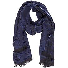 Emporio Armani écharpe homme en laine blu 0100eaafa72