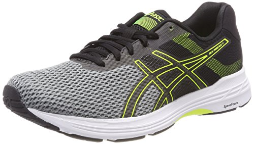 ASICS Herren Gel-Phoenix 9 Laufschuhe, Grau (Stone Grey/Black/Safety Yellow 1190), 43.5 EU