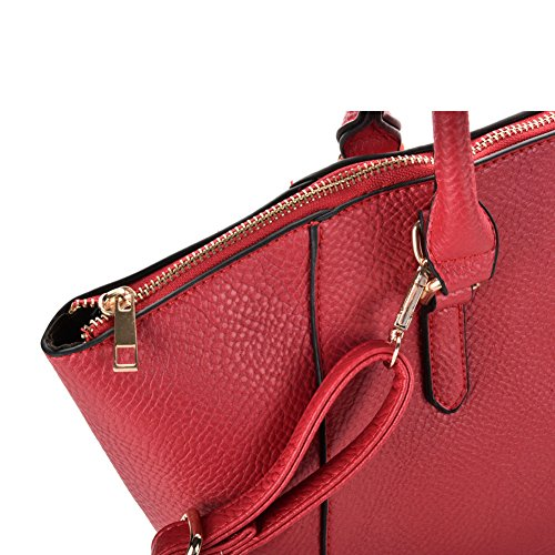 Premium Leather, Borsa a mano donna Large Red